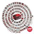 Einhell TE-CD 18/40 Li (2x2,0 Ah) akkus fúró-csavarozó +69 darabos tartozék készlet (4513934)