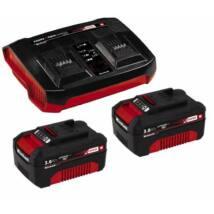 Einhell 2x3, 0Ah & Twincharger Kit Akku és töltő szett (4512083)