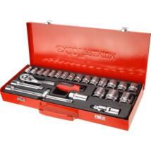 "Extol premium dugókulcs klt., CV., racsnis 45fog ; 1/2"" 24db, 10-32mm, fém doboz, 8818365"