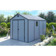 G21 PAH-882 kerti ház, kerti tároló, 241 x 366 cm, műanyag,  világosszürke