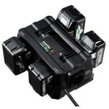 HiKOKI (Hitachi) UC18YTSL 14,4 /18 V-os töltő (Egyidejűleg akár 4 akku is feltölthető!)
