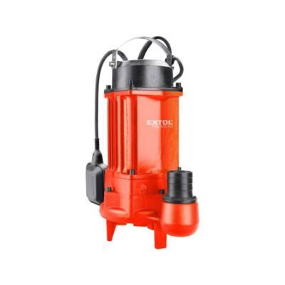 Extol Prémium szennyvíz búvárszivattyú, vágókéses, úszókapcsolóval, 1100W, szállító teljesítmény: 18,5 m3/h, max. száll. 16 m /8895041/