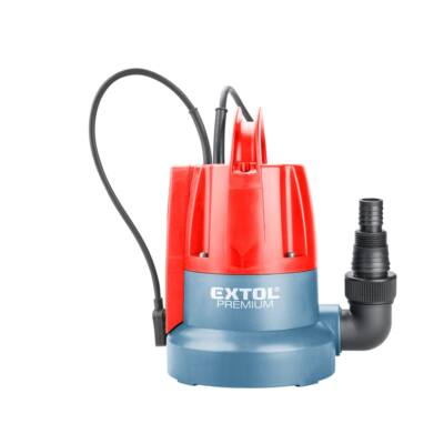 Extol Premium búvárszivattyú tiszta vízhez, úszókapcsolóval, 400W, szállító teljesítmény: 8m3/h, max. száll. 7 m (8895014)