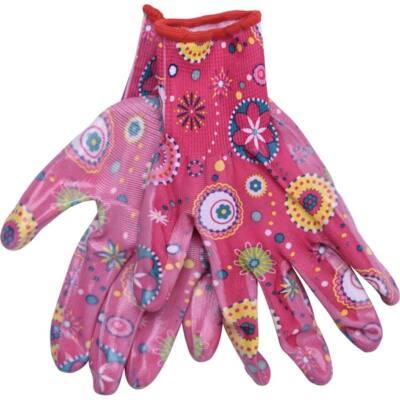 Extol Lady kerti kesztyű, rózsaszín, nylon, méret: 7` nitrilbe mártott teny. és ujjhegy., gumírozott mandzsetta, 8856669