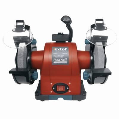 Extol kettős köszörűgép 520W, száraz, 200×16×25mm, (P36, P80), 2950 ford/perc, 19kg, lámpával, 8892120