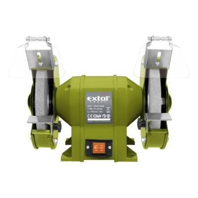 Extol kettős köszörűgép 350W, száraz, 200×16×20mm; 2950 ford/perc, P36, P80, 11kg, 410130