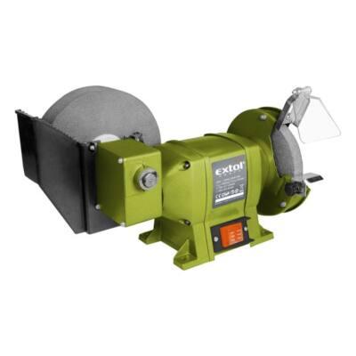 Extol kettős köszörűgép 250W, vizes és száraz; 200mm×20×40/150×12,7×20mm, 134/2950 ford/perc, 8,5kg, 410133