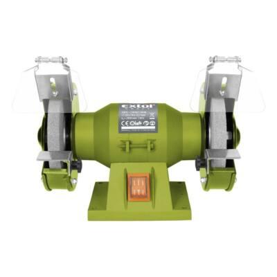 Extol craft kettős köszörűgép 150W,száraz,125×12,7×16mm; 2950 ford/perc, P36, P80, 6kg, 410120