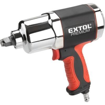 """Extol premium légkulcs, 1/2"""", 680Nm, erős, 3 fokozatú (Twin Hammer), 7500 1/min, 142l/min, 6,3 Bar, 1/4"""" , 8865014"""