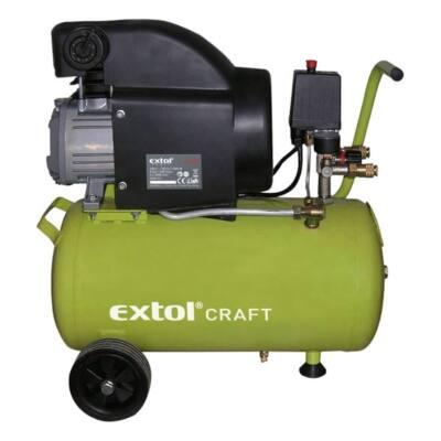 Extol craft olajos légkompresszor, 1500W, 24l tartály, 8 bar; beszívott:208l/min, 418200