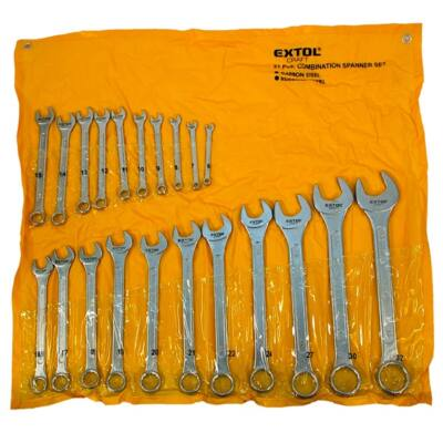 Extol  Craft csillag-villás kulcs klt., CV., műanyag tartóban ; 21db, 6-32mm, 8631143