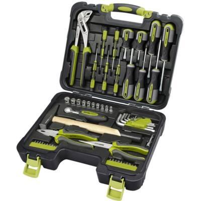 """Extol  Craft szerszámkészlet, 57db, 1/4"""" CV.; 10 dugófej(4-13mm), racsnis kar+fogók,csavarhúzók,órás csavarhúzók, imbuszkulcs,BIT-ek, 6599"""