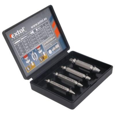 Extol Premium törtcsavar kiszedő készlet 4db (2,7-3,5-4,0-6,0 mm)×51mm, HSS, 8801842