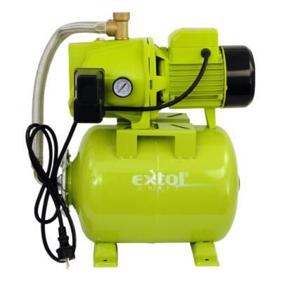 Extol házi vízmű 750W Extol Craft, szállító teljesítmény: 5,4m3/h, max. száll. 46 m, tartály: 20L, 84513