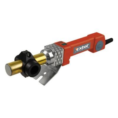 Extol premium műanyagcső hegesztő gép, 800W, PTW 90, cserélhető fejek:16-20-25-32mm, 0-260°C, 8897210