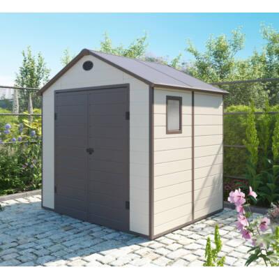 G21 PAH-458 kerti ház, kerti tároló,  241 x 190 cm, bézs, műanyag