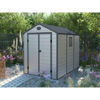 G21 PAH-523 kerti ház, kerti tároló,  188 x 278 cm, világosszürke, műanyag
