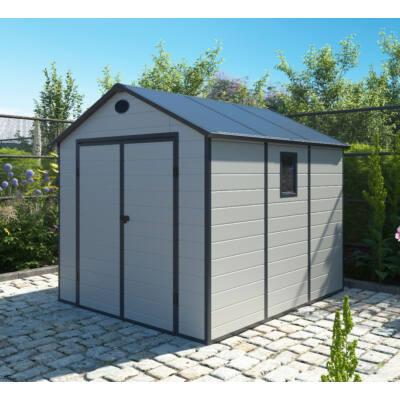 G21 PAH-670 kerti ház, kerti tároló,  241 x 278 cm, világosszürke, műanyag