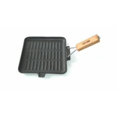 Perfect Home 10376 Öntöttvas grill serpenyő 24cm szögletes