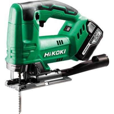 HiKOKI (Hitachi) CJ18DA-5AH-HSC 18V Akkumulátoros szúrófűrész, Löketszám állítás, LED, Max 135mm fában, 2x5Ah, + HITBOX