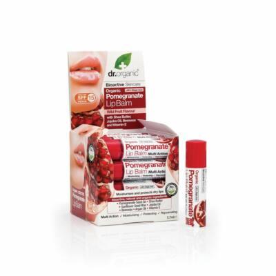 Dr. Organic Bio gránátalma Ajakbalzsam 5,7 ml
