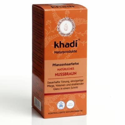 Khadi Növényi hajfesték por - Természetes mogyoróbarna 100 g