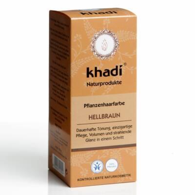 Khadi növényi hajfesték por Világosbarna 100g