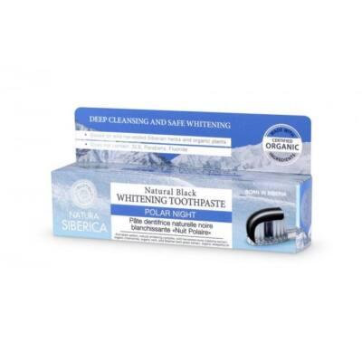Natura Siberica Polar Night Fluoridmentes fekete fogkrém fehérítő hatással 100 g