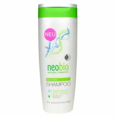 Neobio Szenzitív sampon érzékeny fejbőrre bio Aloe verával 250ml