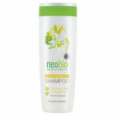 Neobio Regeneráló sampon fénytelen hajra bio fehérliliom-és moringakivonattal 250ml