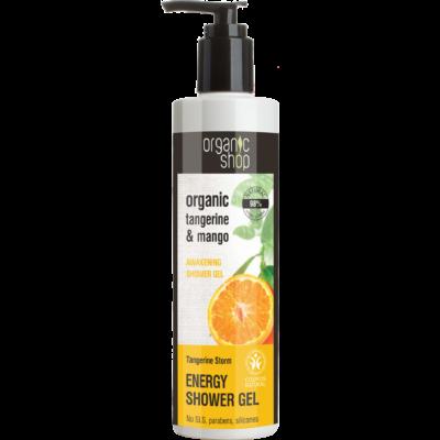Organic Shop  bio Mandarin vihar ébresztő tusfürdő bio mandarin és mangó kivonattal 280 ml