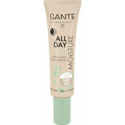 Sante 24h Hidratáló, Bőr Frissítő Alapozó 02 Sand